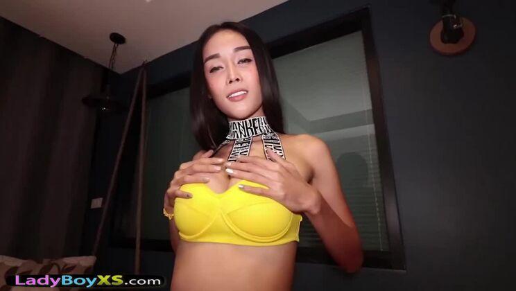 Stunning oriental tranny slut gets fucked in amateur porn video