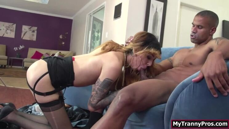 Mellow babe shemale Ryder Monroe is anal penetrated