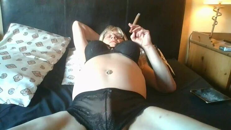 Beauteous towheaded tranny tart making her fetish dreams come true