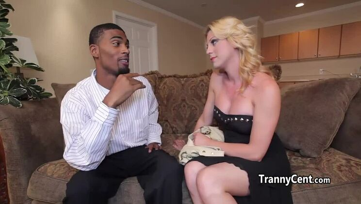 Awesome golden-haired tranny Tyra Scott is blowing my dicks