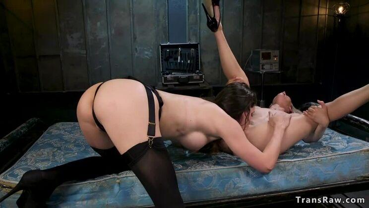 Pleasing tranny Korra Del Rio in tempting sexy stockings