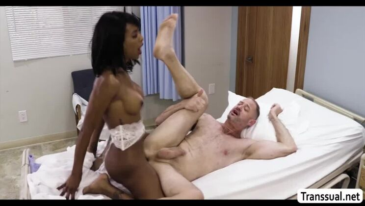 Snazzy black ladyboy Natassia Dream is making a best blowjob of my life