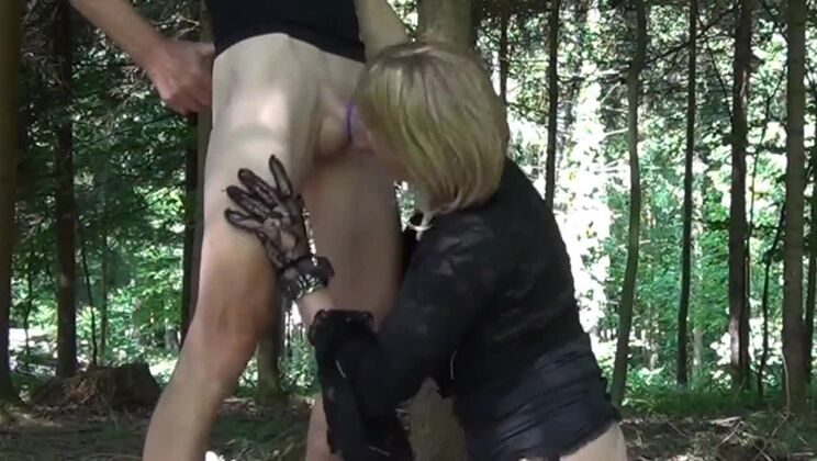 Winsome ladyboy gal in private amateur XXX video outside