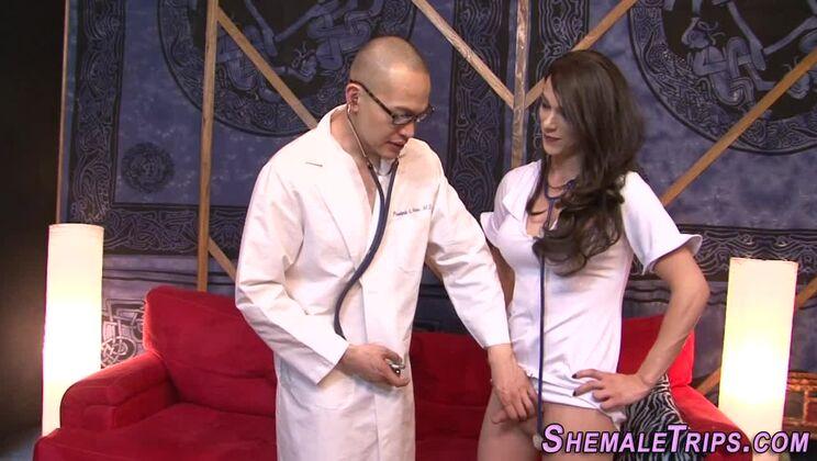 Pleasing breasty t-girl Nina Lawless attending in amazing blowjob porn