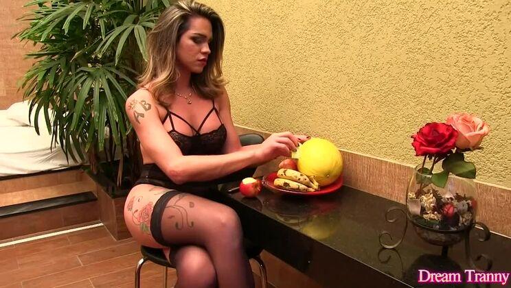 Comely latina ladyboy Amanda Fialho featuring amazing fetish porn