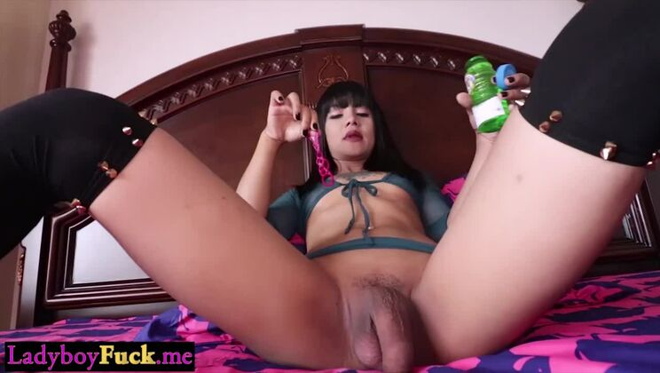 Tempting oriental tranny whore featuring cocksucking video