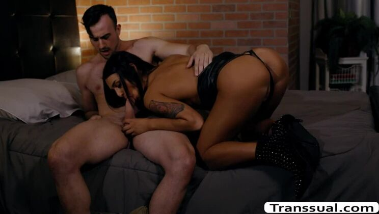 Incredible tattooed transsexual Khloe Kay got jammed in the ass
