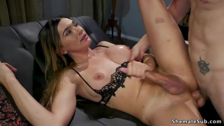 Doctor anal fucks busty shemale beauty